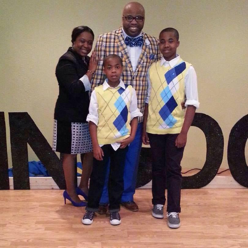 Pastor Ron Greene, his wife Tanya and their two sons.