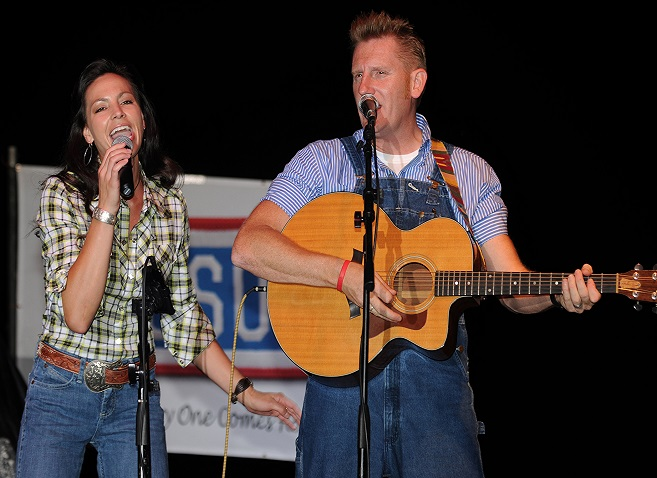 100704-A-9737A-060 GUANTANAMO BAY, Cuba (July 4, 2010) The country music group, Joey and Rory, perform for service members at Joint Task Force Guantanamo and the Naval Station Guantanamo Bay community. The event was sponsored by the base Morale, Welfare and Recreation office. (U.S. Army photo by Sgt. Tiffany Addair/Released)